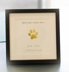 Framed Paw Print